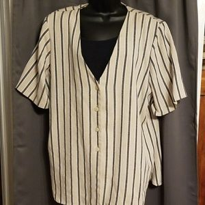 Alfred Dunner faux jacket/shirt size 20